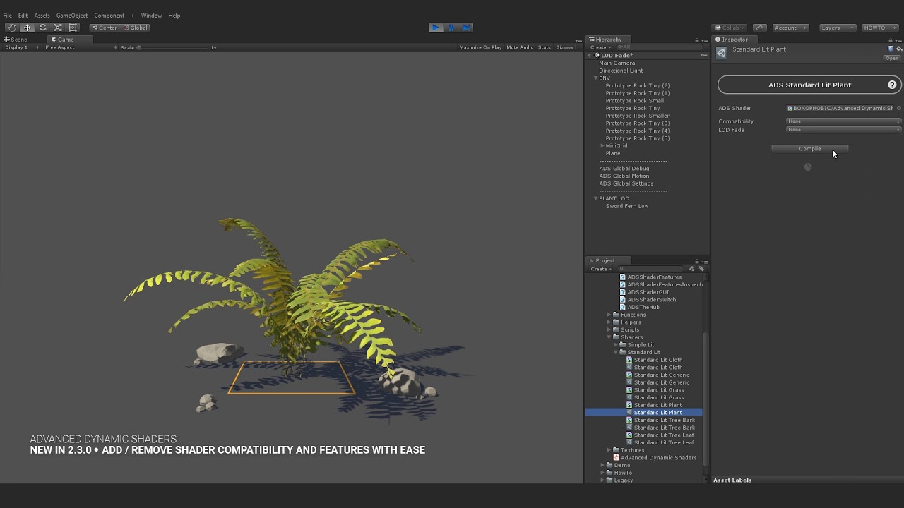 ADVANCED DYNAMIC SHADERS 2 3 0 for UNITY - Shader Feature Asset