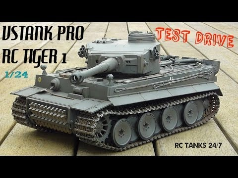 Tiger 1 RC VsTank Pro 2.4ghz Test Drive