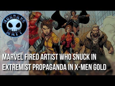[Comics] Marvel fired artist who snuck in extremist propaganda in X-MEN GOLD #1