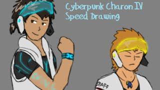 Cyberpunk Charon IV speed drawing