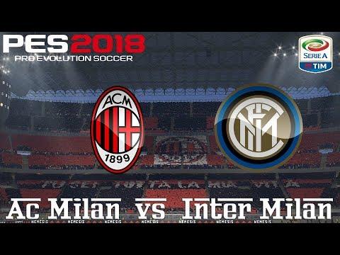 PES 2018 (PC) AC Milan v Inter Milan | SERIE A PREDICTION | 4/3/2018 |1080P 60FPS