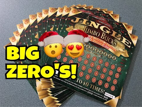 SUPER BIG WIN!! $25 Jingle Jumbo Bucks Georgia Lottery Scratch Off Ticket