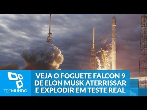 Veja O Foguete Falcon 9 De Elon Musk Aterrissar E Explodir Em Teste Real