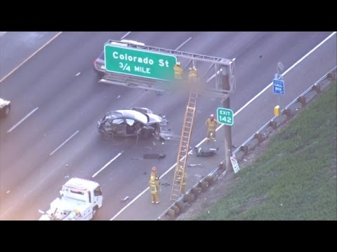 Man s After Being Ejected from Car and Landing on Freeway Sign ... Car Lands Mobile Home on recreational land, colonial land, island land, mobile homes sales lot, kansas home land, comet land, industrial land,