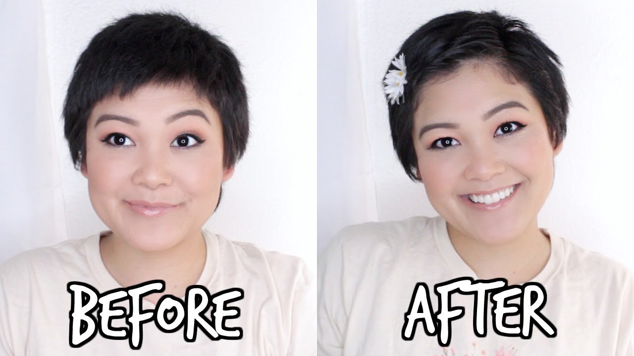 How I Style My Short Hair Pixie Cut Hairstyle Youtube