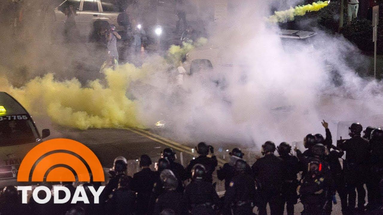 Hillary Clinton slams Trump for tear-gassing peaceful protestors ...