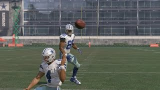 Can I Recreate Dez Bryant's TD Pass to Witten with Dak Prescott Flipping the Ball Behind His Head???
