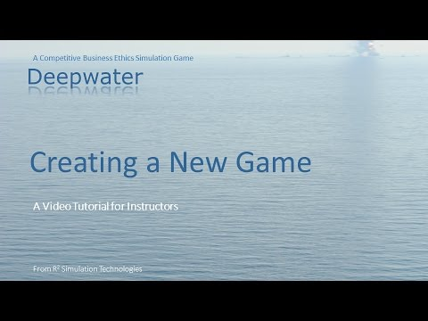 How to Create a New Deepwater Game