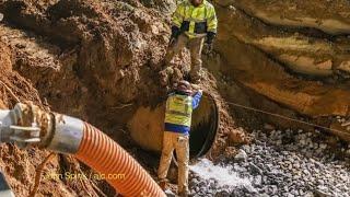 Crews work to restore water after massive main break