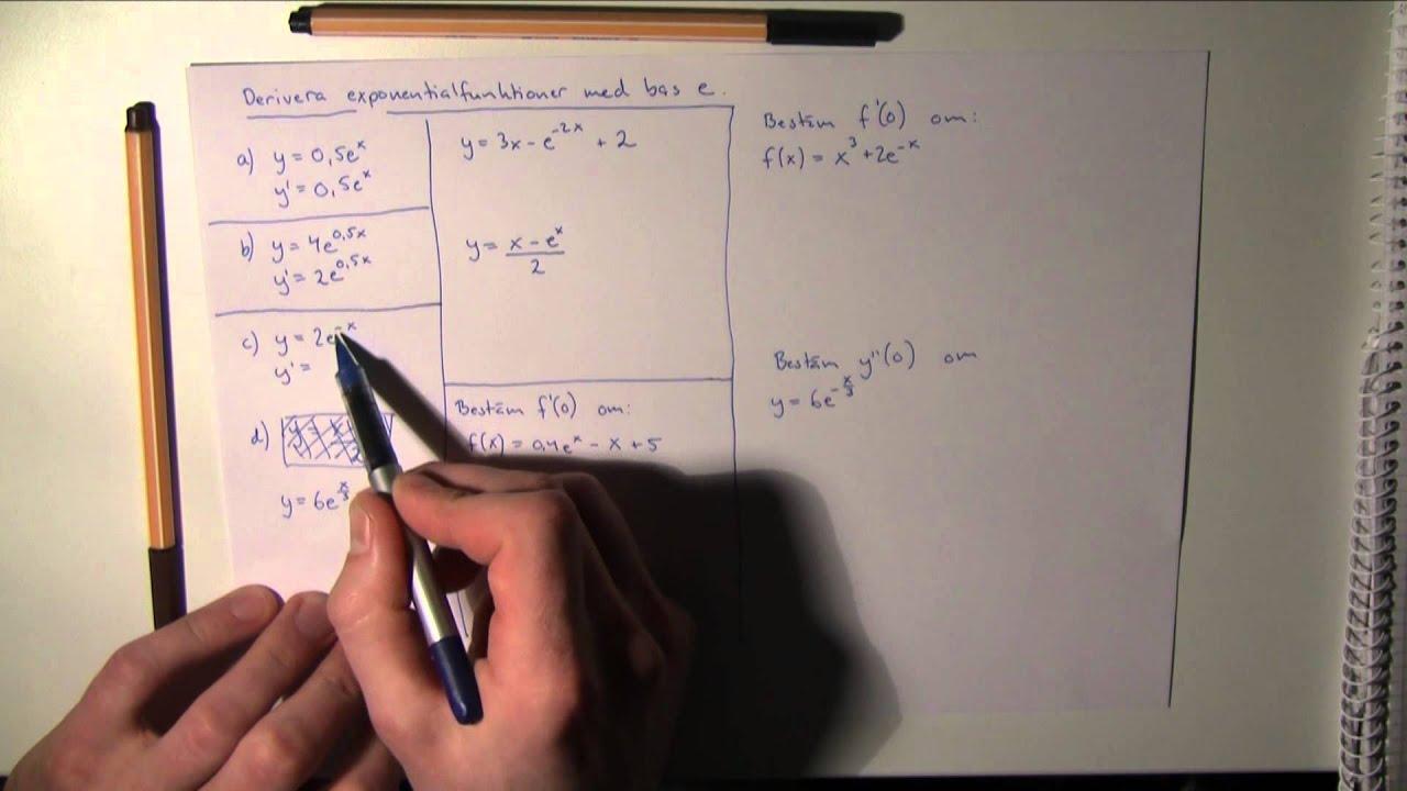 Matematik 3c-Uppgifter och lösningar till derivatan och andraderivatans tillämpningar m.m. del III