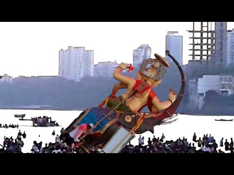 Girgaon Chowpatty Ganpati Visarjan | Ganpati Fall Down | Epic Timelaps | Day To Night Coverage