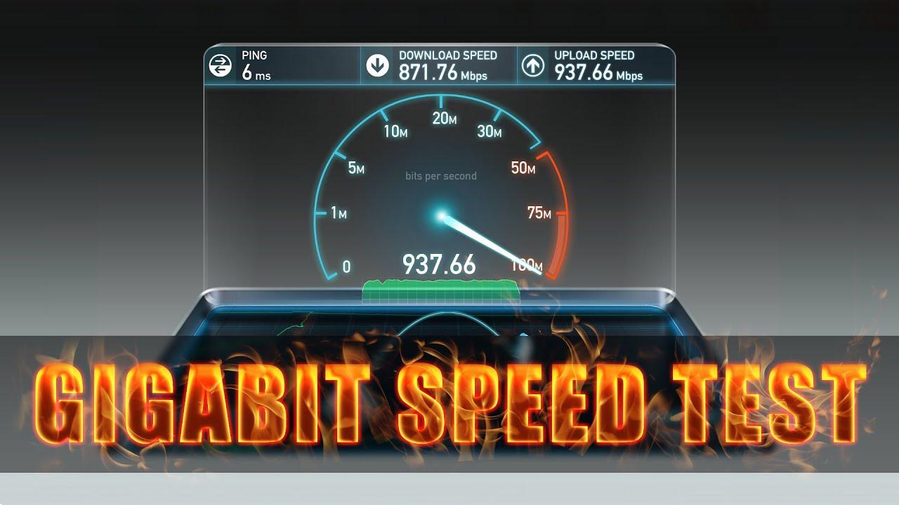 Gigabit Internet Speed Test And Upload Demo - YouTube