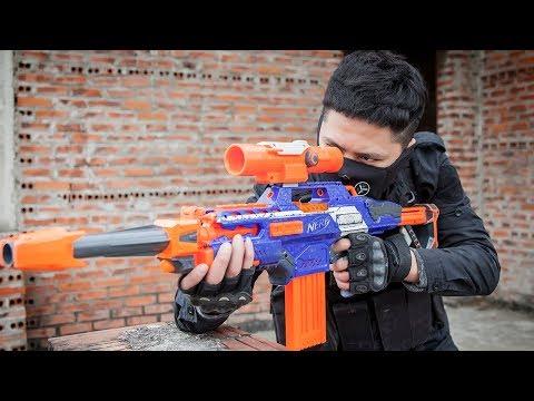 LTT Game Nerf Guns : Nerf Guns Game   MEGA Nerf Guns SEAL X Attack Crime group