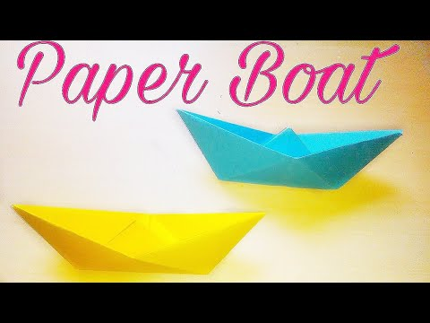How to make paper boat . DIY Craft .Origami paper