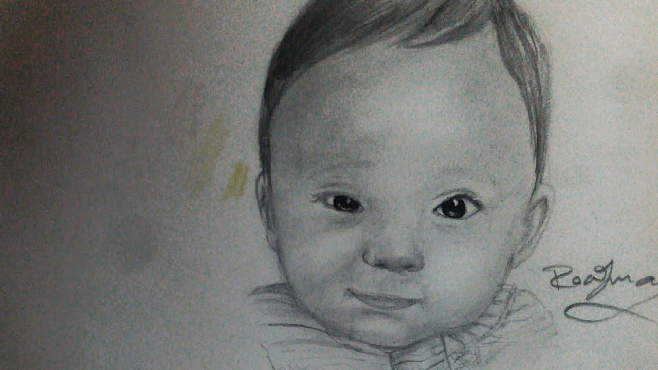 رسم طفل بالخطوات Draw Baby By Step Youtube