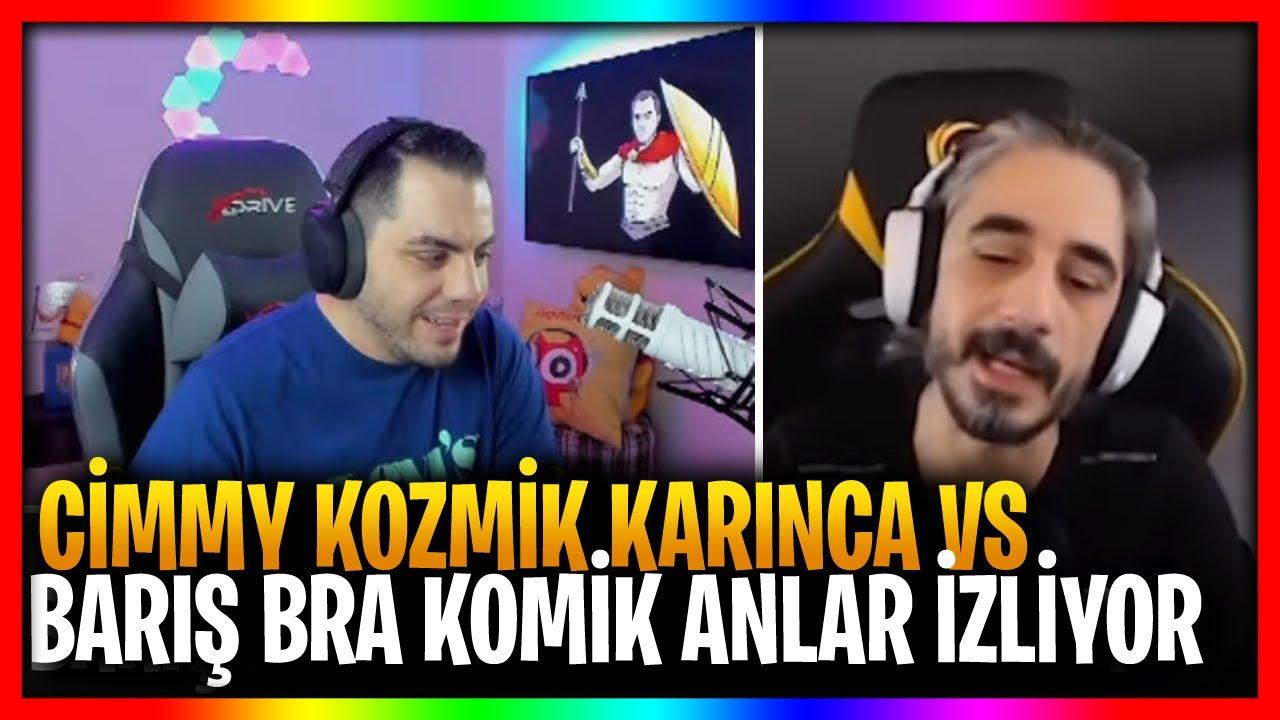 CİMMY TV   CİMMY KOZMİK KARINCA VS BARIŞ BRA KOMİK ANLAR İZLİYOR(ESKİ YENİ KLİPLER)