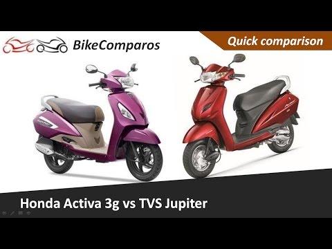 Honda Activa 3G vs Jupiter Comparison Review