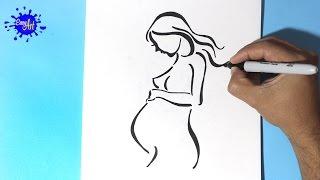 Como dibujar una mujer en embarazo -  How to draw a pregnant woman