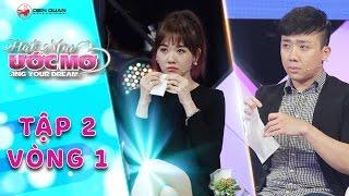 Hát mãi ước mơ   Tập 2 vòng 1 (Ước mơ): Trấn Thành, Hariwon khóc nấc trước câu chuyện của chú Gấm