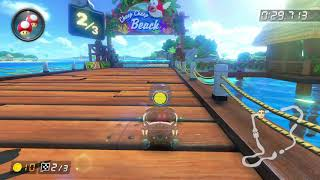 DS Cheep Cheep Beach [200cc] - 1:16.994 - vƒ◆Kevin- (Mario Kart 8 Deluxe World Record)