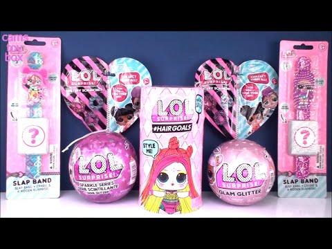 Hairgoals 2 LOL Surprise Blind BAGS Sparkle Glam Glitter Series DOLLS Slap Band