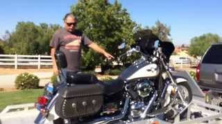 part 2 loading two motorcycles onto trailer