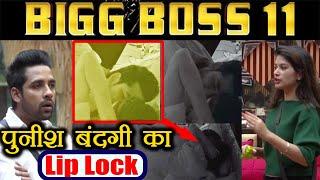 Bigg Boss 11: Puneesh  Bandagi Lip Lock Kiss under the sheet | FimiBeat