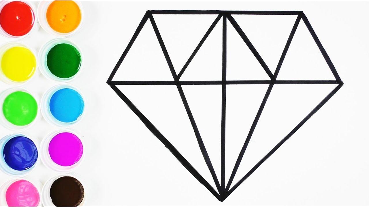 Cómo Dibujar y Colorear un Diamante de Arco Iris - Dibujos Para ...