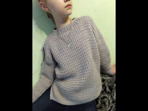 Вязаный свитер для девочки 12 лет спицами с описанием