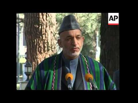 Afghan president Karzai congratulates Obama on his victory