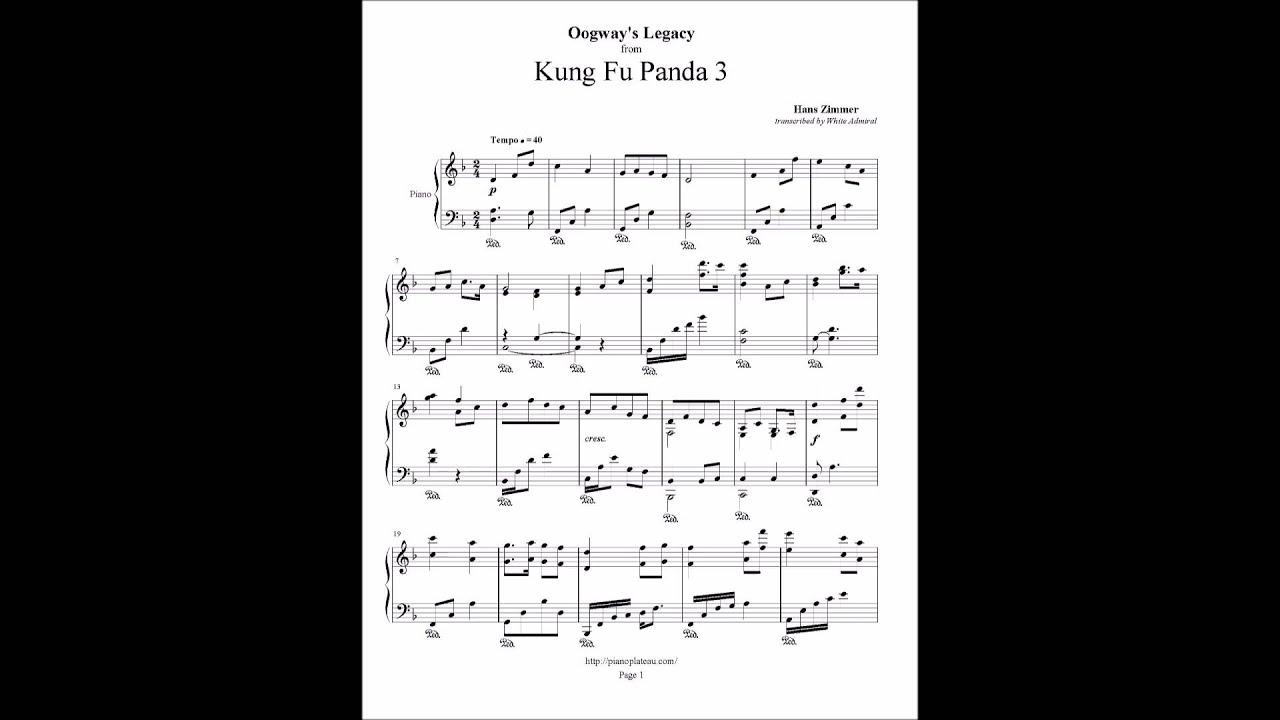 Kung Fu Panda 3 - Oogway's Legacy - Hans Zimmer - YouTube