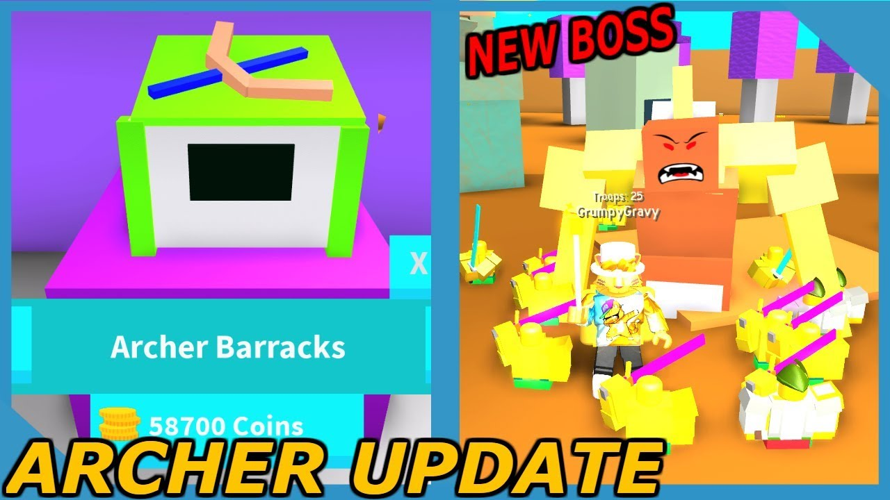 Buying The Strongest Sword In Roblox Army Control Simulator - New Update Archer Troops And Desert Boss In Roblox Army Control Simulator