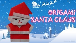Origami Christmas Santa Claus - Origami Easy