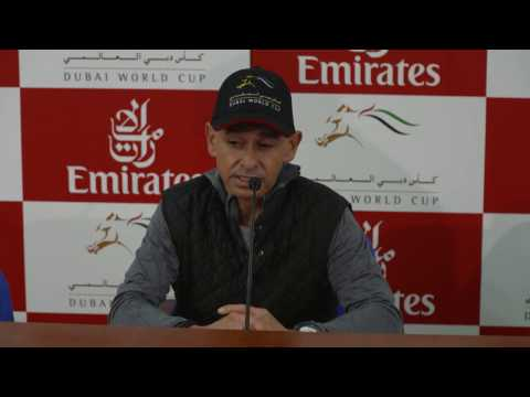 Jockey Mike Smith Dubai World Cup Carnival Press Conference On March 24