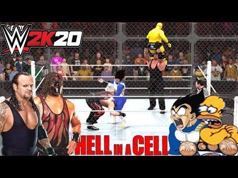"""Homero y Vegeta VS Undertaker & Kane"" - HELL in a CELL 2016: (WWE Tag Team Championship)"