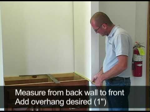 Marcraft Inc How To Measure And Install A Vanity Top Enclosed By Two Walls Youtube