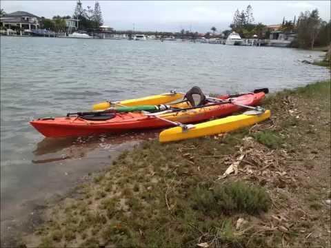 Kayak Paddling, Sailing, Outriggers, Outboard, TriYakaMaran