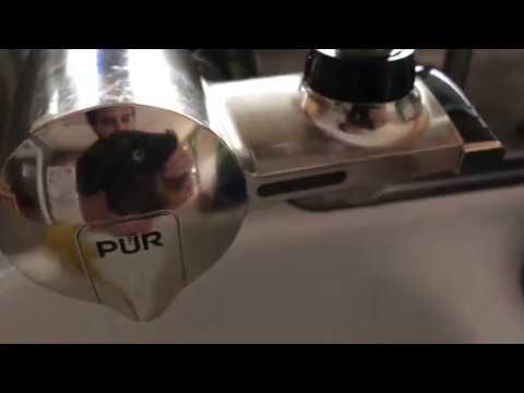 Pur water filter light reset