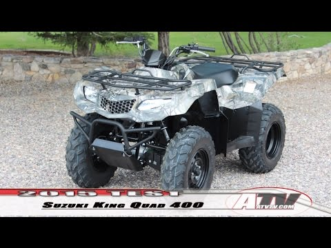 atv television 2015 suzuki king quad 400 test youtube rh youtube com