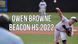 Owen Browne Beacon HS 2022 HV Bulldogs Baseball Highlights