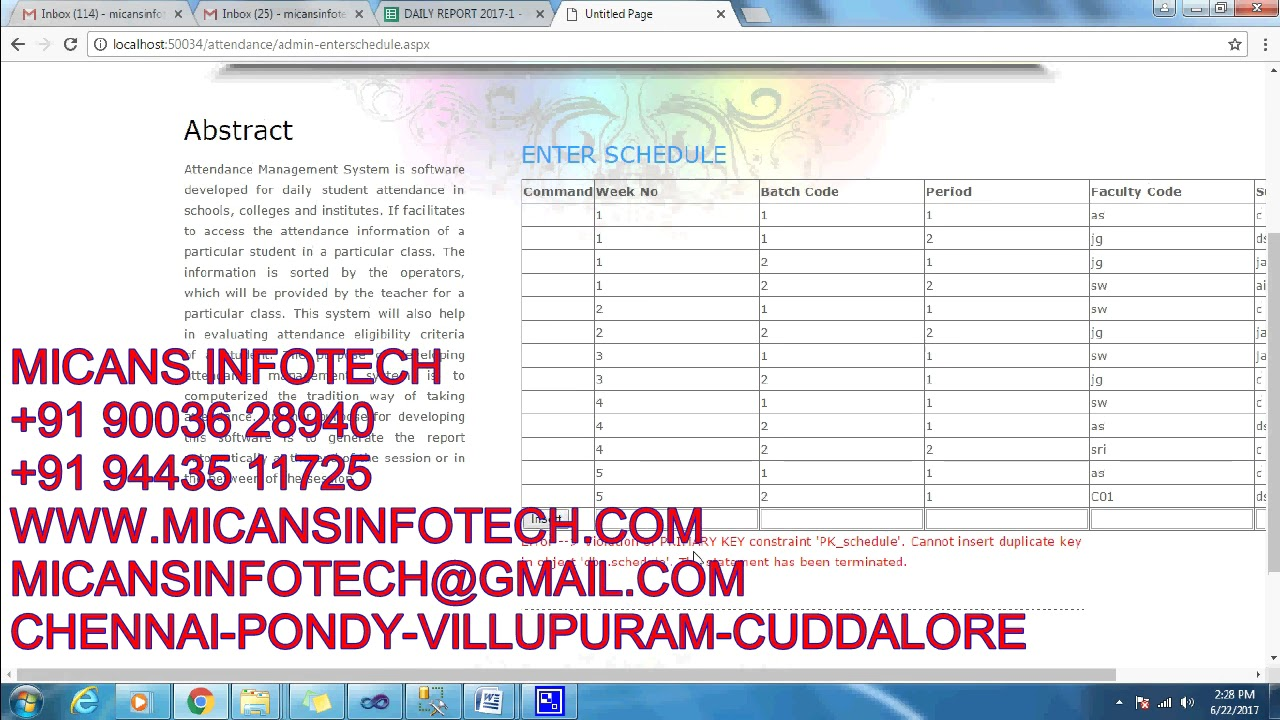 attendance tracking system net projects code youtube