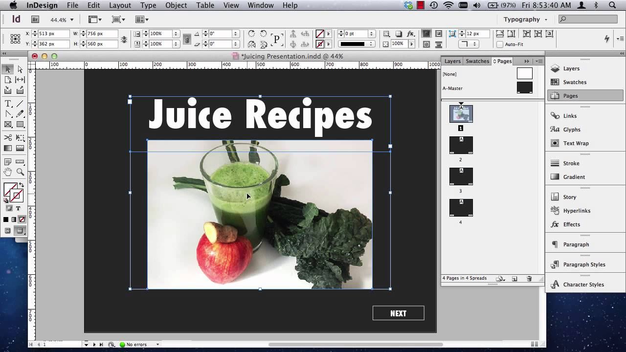 Indesign Interactive Pdf Presentations Part 1 Of 2 Youtube