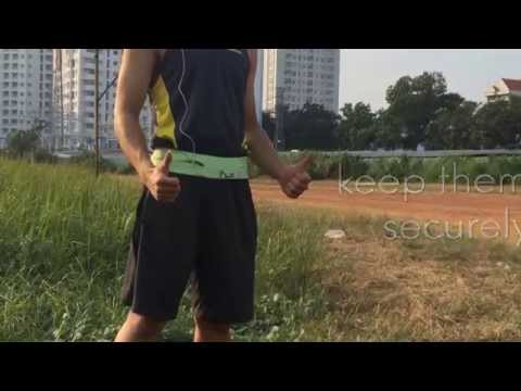 Best Running Belt - Elastic Waist Bag for Yoga, Workout, Gym, Exercise, Cycling, Hiking