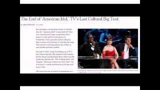 01/04/2016: The End of 'American Idol,' TV's Last Cultural Big Tent