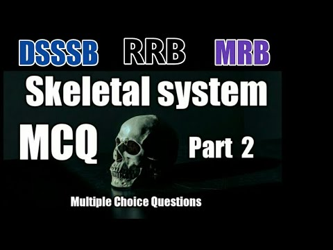 The Skeletal system MCQ (Part 2) / Staff nurse exam model questions  /Anatomy / RRB / MRB