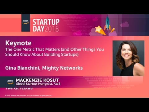 Keynote - The One Metric That Matters (and Other Things You Should Know About Building Startups)