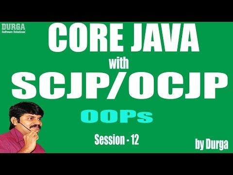Core Java With OCJP/SCJP: OOPs(Object Oriented Programming) Part-12 || instance control flow