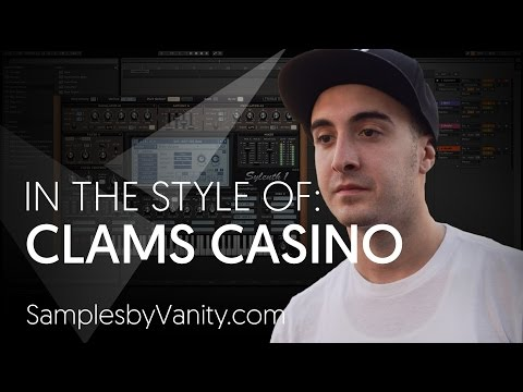 CLAMS CASINO Tutorial: In The Style Of Vol.13 - Clams Casino + Sample Pack (Palace Remake)