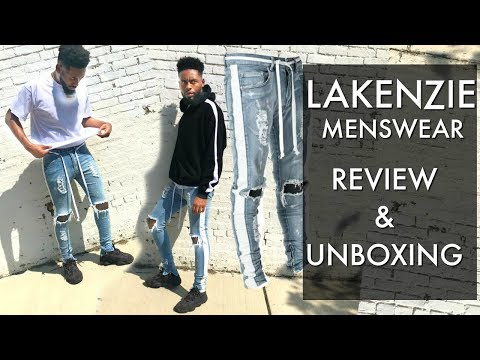 Lakenzie Menswear Track Jeans Try On & Review