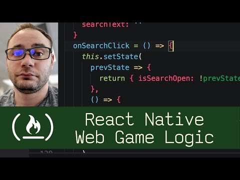 React Native Web Game Logic  (P7D4) - Live Coding with Jesse
